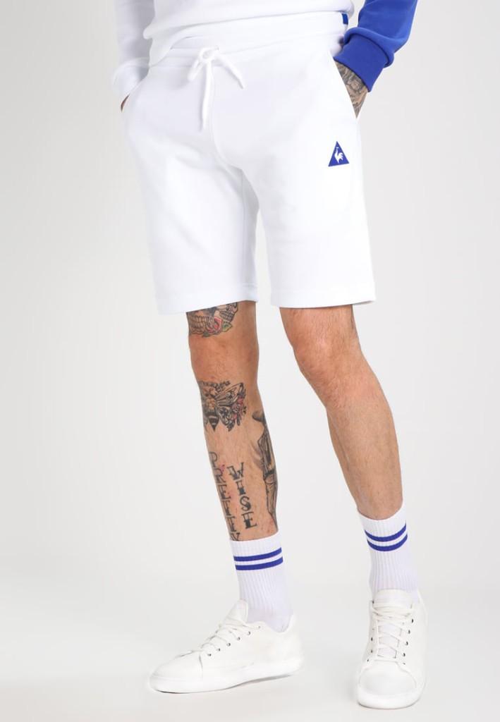 Short blanc Le Coq Sportif pour un look immaculé