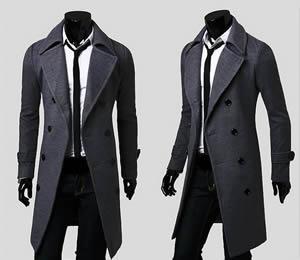 manteau long homme en laine
